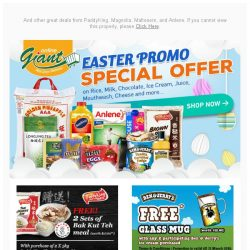 [Giant] 🐇Early Easter Deals! FREEBIES from 🍨 Ben & Jerry's and 👄 Listerine! 👀 Check it out Now!