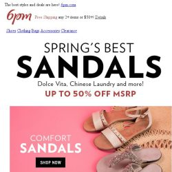 [6pm] Spring's Best Sandals are here!
