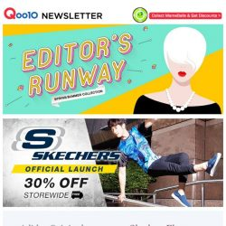 [Qoo10] SKECHERS Official Launch with 30% storewide discount! Shop more fashion deals that are trending this spring/summer!