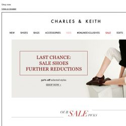 [Charles & Keith] LAST CHANCE | Up to 50% off