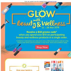 [Fairprice] Receive $10 promo code when you spend over $70 on participating Beauty & Wellness products!