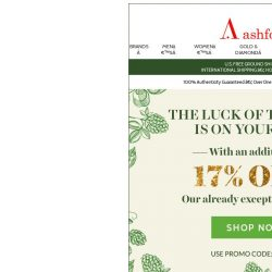 [Ashford] 17% off St. Patty's treasures ☘