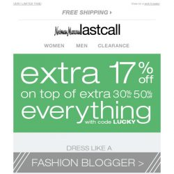 [Last Call] Taking CHIC to the STREET + extra 17% off on top of sale