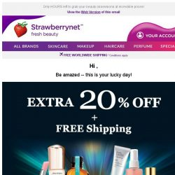 [StrawberryNet] , Time's running out for Extra 20% Off + Free Shipping