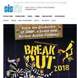 [SISTIC] From the producer of JUMP, a brand new Korean action comedy not to be missed!