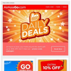 [AirAsiaGo] 👉 Put on your saving cap. Our weekend deals are out.