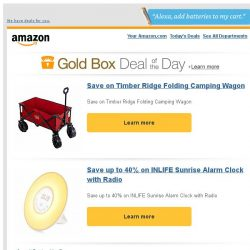[Amazon] Save on Timber Ridge Folding Camping Wagon