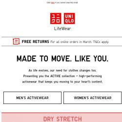 [UNIQLO Singapore] Made to Move. Like You.