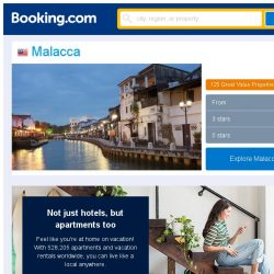 [Booking.com] Deals in Malacca from S$ 5