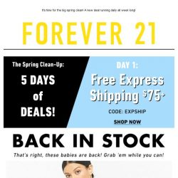 [FOREVER 21] 🌱 5 Days of Deals! | HELLO SPRING 🌱