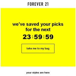 [FOREVER 21] Shopping bag reserved for now...