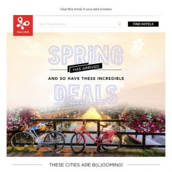 [Kaligo] , earn up to 18,800 Miles this spring in these b(l)ooming cities!