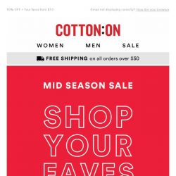 [Cotton On] Shopped the SALE yet?