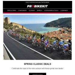 [probikekit] 🎉 Celebrate the start the new season with some HUGE savings on clothing and components! 🎉