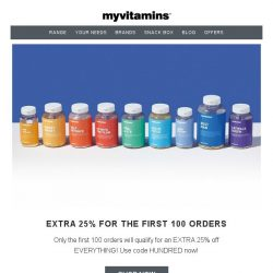 [MyVitamins] Limited Clearance Sale   EXTRA 25% off