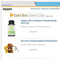 [Amazon] Caffeine with L-Theanine for Smooth Energy and...