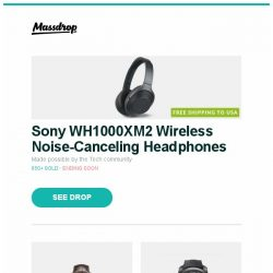 [Massdrop] Sony WH1000XM2 Wireless Noise-Canceling Headphones, Baume & Mercier Clifton Automatic Watch, Graham Chronofighter Navy Seal Automatic Watch and more...