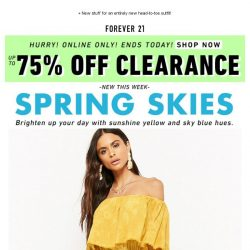 [FOREVER 21] Here's an EXTRA 75% OFF sale items!