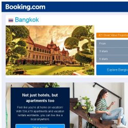 [Booking.com] Prices in Bangkok dropped again – act now and save more!