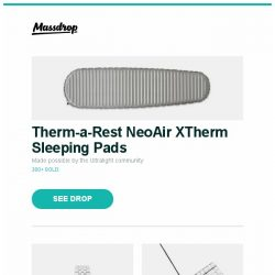 [Massdrop] Therm-a-Rest NeoAir XTherm Sleeping Pads, Glycine Airman Automatic Watch, Magicforce 82-Key Mechanical Keyboard and more...