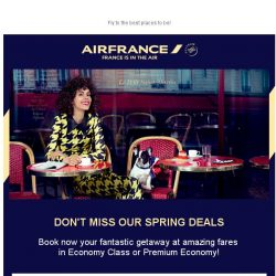 [AIRFRANCE] ⌛ Don't miss our Spring deals!
