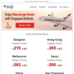 [Zuji] BQ.sg, Enjoy Two-To-Go fares with Singapore Airlines fr $219