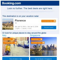 [Booking.com] Florence, Venice, or Rome? Get great deals, wherever you want to go