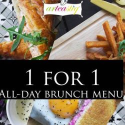 Arteastiq: Flash Image to Redeem 1-for-1 All-Day Brunch Menu on Weekdays!