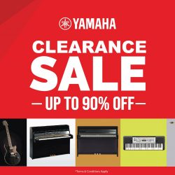 Yamaha: Massive Clearance Sale with Up to 90% OFF Guitars, Drums, Pianos, Books, Accessories & Many More!