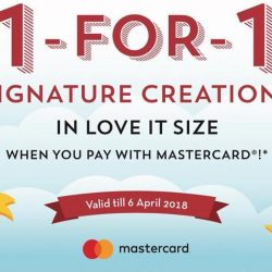 Cold Stone Creamery: Enjoy 1-for-1 Signature Creations When You Pay with Mastercard at Waterway Point Outlet!