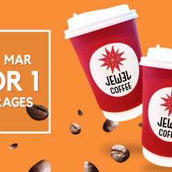Jewel Coffee: Enjoy 1-for-1 Drink from 3pm Onwards!