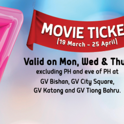 Golden Village: $7 Movie Ticket on Monday, Wednesday & Thursday!