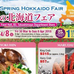 Takashimaya: Spring Hokkaido Fair with Scrumptious Seafood, Delectable Grilled Skewers & Luscious Desserts from Hokkaido!