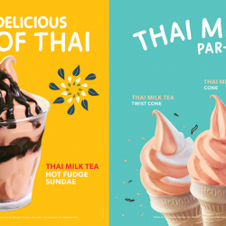 McDonald's: NEW Thai Milk Tea Hot Fudge Sundae & Thai Milk Tea Cones Now Available at Dessert Kiosks!