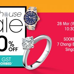 SK Jewellery: Warehouse Sale with Up to 70% OFF + 7% GST Absorbed! Be the First 50 Customers Daily to Receive a FREE 999 Pure Gold Snoopy!