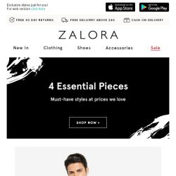 [Zalora] Essential Pieces: We've chosen these for you