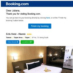 [Booking.com] Ecfa Hotel - Wannin – are you still interested in staying?