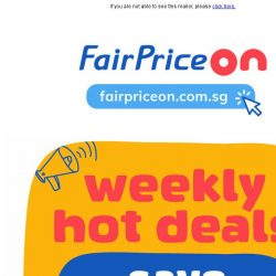 [Fairprice] Save up to 80% for 3 days hot deals!