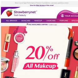 [StrawberryNet] 😍 , Extra 20% Off Makeup Madness has LANDED!