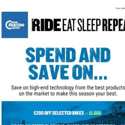 [Chain Reaction Cycles] Stock up for the season ahead with Spend and Save