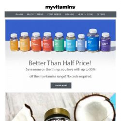 [MyVitamins] Save Up To 55%   Plus 3 for 2