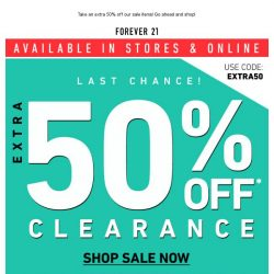[FOREVER 21] 💛 EXTRA 50% OFF 💛