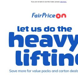 [Fairprice] Save more for value packs and carton deals