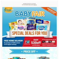 [Giant] ✨ Great Deals ✨ strikes back! Giant 🍼Baby Fair start this Friday!