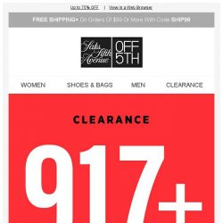 [Saks OFF 5th] 917+ reasons to shop clearance...