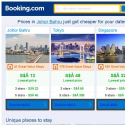 [Booking.com] Prices in Johor Bahru are dropping for your dates!