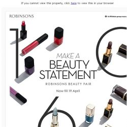 [Robinsons]  Make Your Beauty Statement with Robinsons!