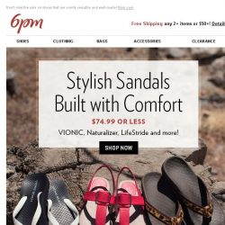 [6pm] VIONIC, UGG, TOMS & More!