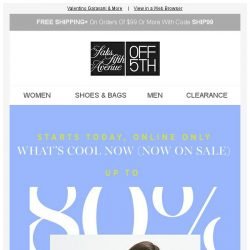 [Saks OFF 5th] Karl Lagerfeld on your mind? + Up to 80% OFF new & need-now styles