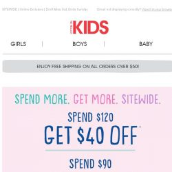 [Cotton On] Save up to $40 when you SPEND & SAVE!